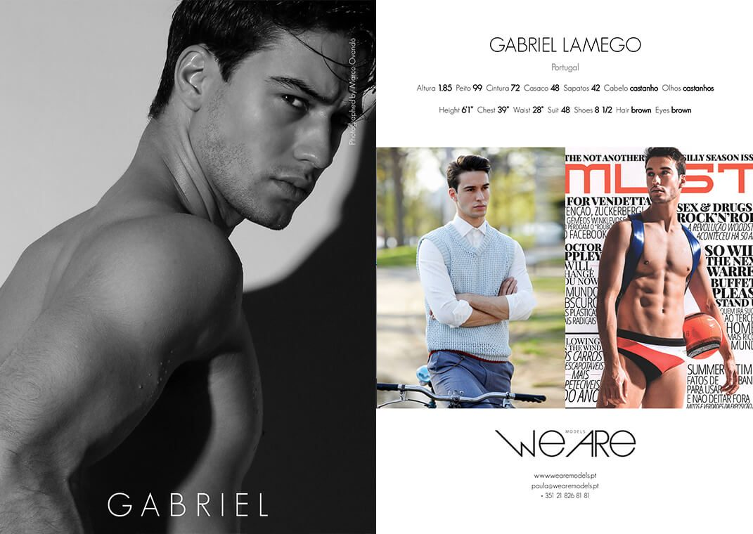 Model Men Gabriel Lamego