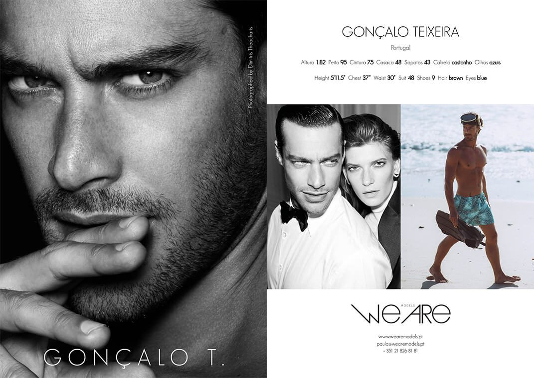 Model Men GONÇALO TEIXEIRA - Check out our model   We Are Models